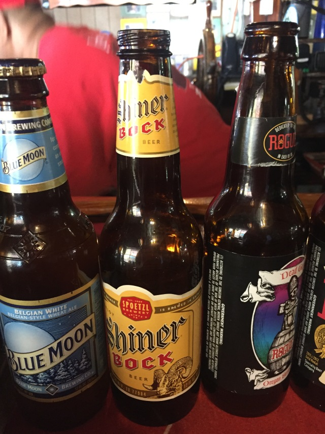 Day 12 - Shiner Bock (Brewed in Texas) Among the Vast Selection at Jeff's