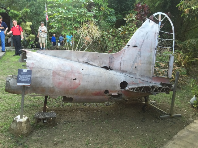 Day 12 - Japanese VAL Bomber Tail Section at the Private Pacific War Museum