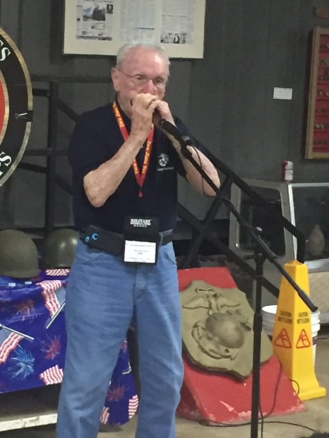 Day 12 - Iwo Jima Veteran Playing a Hot Harmonica