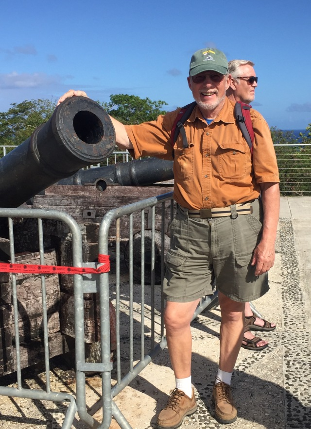 Day 16 - Random Photo (Fort Santa Agueda Cannon) for My Final Flight (12 in All) to San Antonio