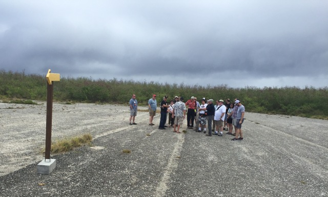 Day 9 - Far End of Runway Able on Tinian ... the Enola Gay Lifted Off at the Yellow Arrow, just 400' Short of the Trees at the End of the 8,500' Runway