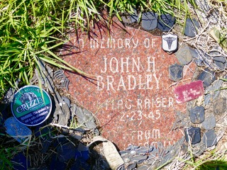 Day 11A - Memorial Plaque Honoring Navy Corpsman John Bradley at the Location where 6 Marines Raised the Flag.