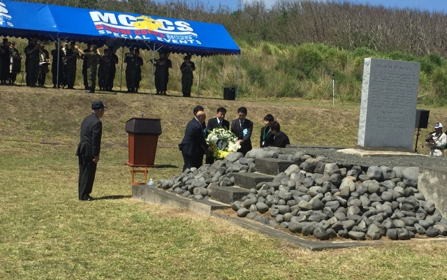 Day 11B - Japanese Delegation Laying a Ceremonial Wreath, one of Several